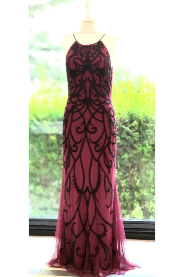 لباس مجلسی زنانه ترک جدید برند İthal رنگ زرشکی ty54780235