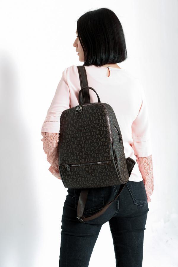 فروشگاه کوله پشتی زنانه اینترنتی برند Just Polo رنگ قهوه ای کد ty54780503