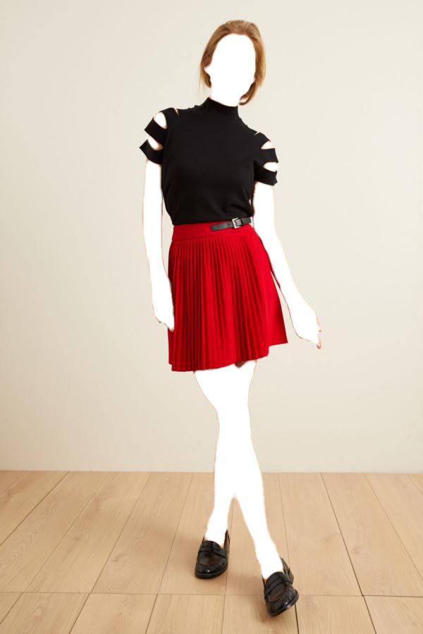 فروش دامن زنانه نخی برند adL رنگ قرمز ty54786389