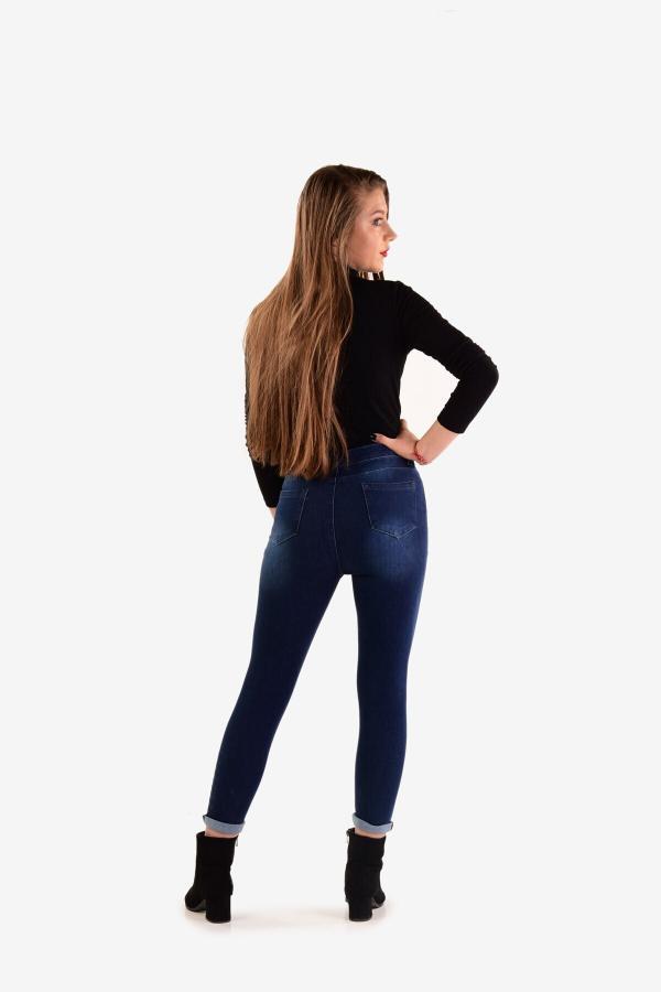 خرید نقدی شلوار جین پاییزی زنانه برند EKON رنگ آبی کد ty54788771