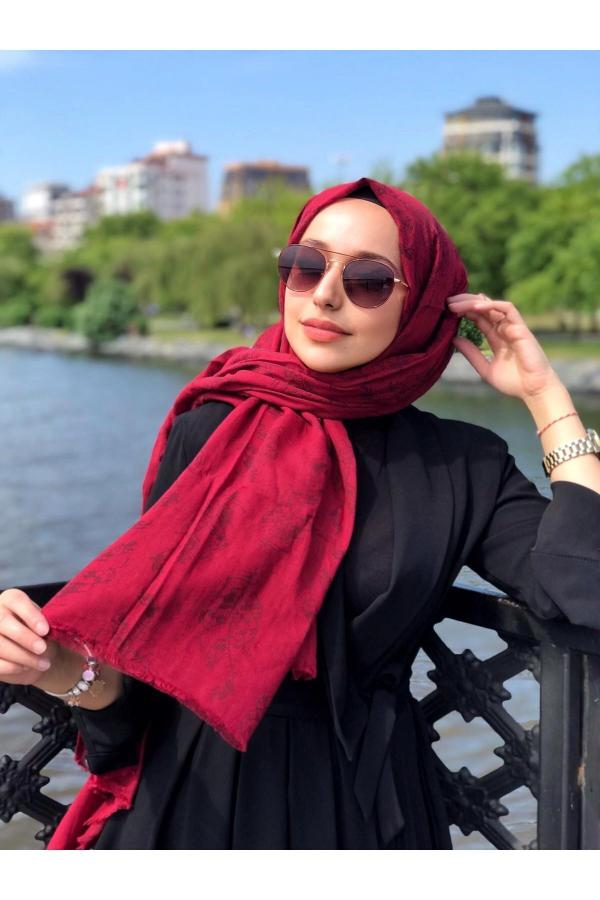 خرید انلاین شال دخترانه خاص برند vav scarf رنگ زرشکی ty54808154