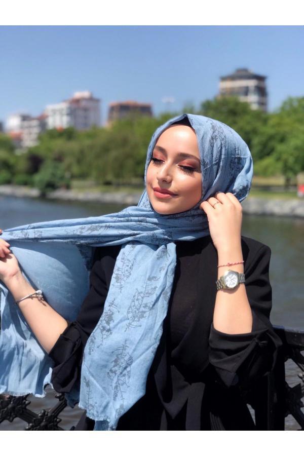 شال دخترانه فروش برند vav scarf رنگ آبی کد ty54808189