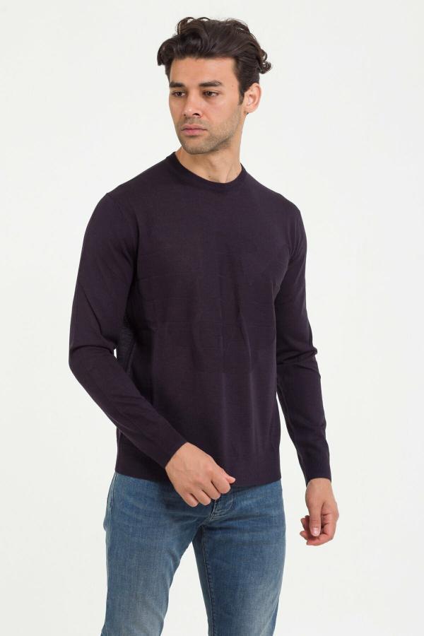 خرید انلاین پلیور مردانه خاص برند امپریو آرمانی رنگ لاجوردی کد ty54809215