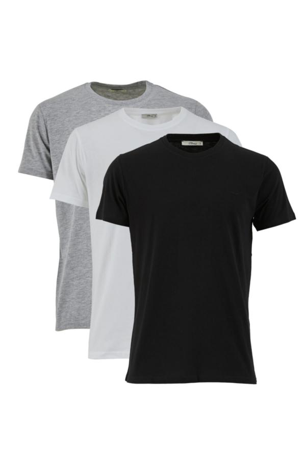 تی شرت مردانه خفن برند Ltb رنگ نقره ای کد ty54809362