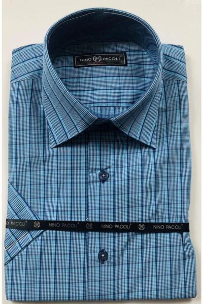 خرید اینترنتی پیراهن اسپرت مردانه از استانبول برند GİESTE رنگ آبی کد ty54811054