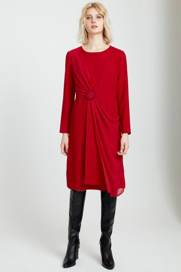 خرید اینترنتی پیراهن بلند برند FEVER رنگ قرمز ty54811077