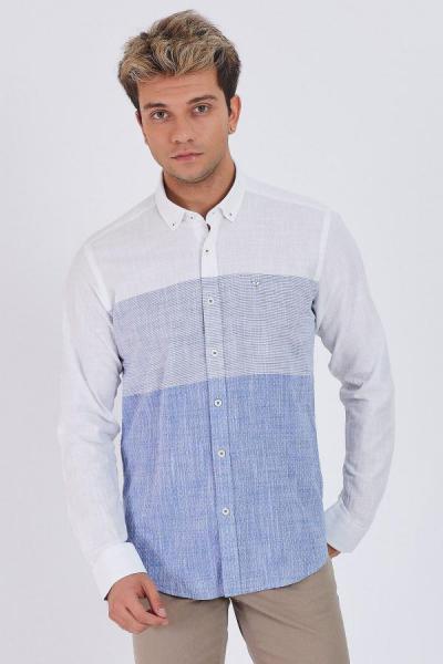فروش پستی پیراهن اسپرت مردانه شیک جدید برند epaavm رنگ آبی کد ty54811160