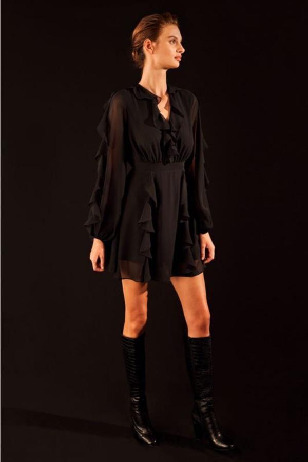 خرید انلاین پیراهن زنانه خاص برند Love My Body رنگ مشکی کد ty54811564