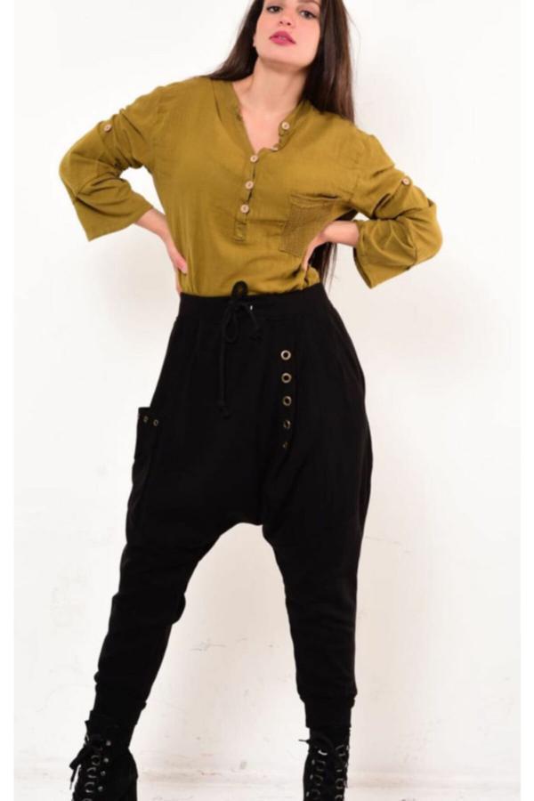 فروش شلوار زنانه جدید برند Rosidam رنگ مشکی کد ty54812846