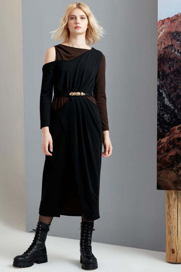 پیراهن پاییزی زنانه برند FEVER رنگ مشکی کد ty54814310