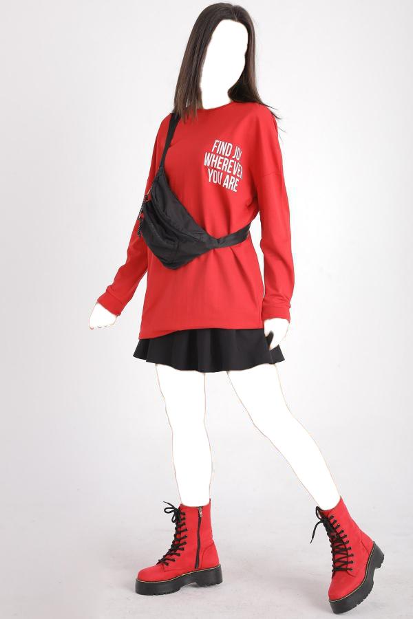 خرید انلاین تونیک زنانه طرح دار برند Milanoor رنگ قرمز ty54814385