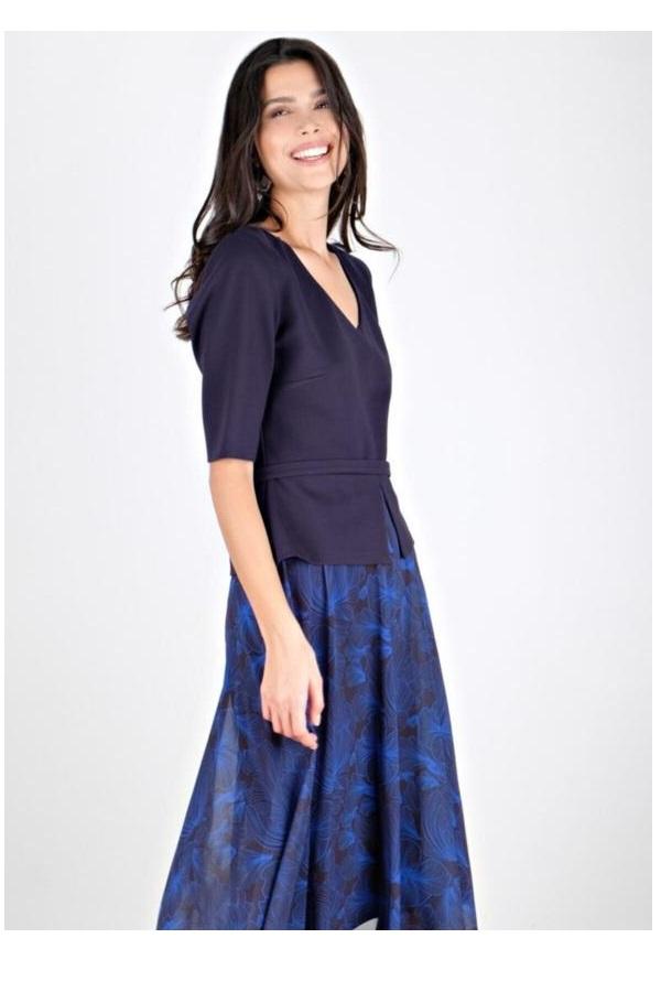 پیراهن زنانه شیک برند Spazio رنگ آبی کد ty54898128