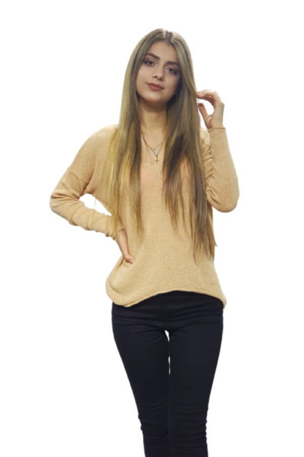 خرید نقدی بلوز زنانه  برند Moda Lisa رنگ بژ کد ty54901381