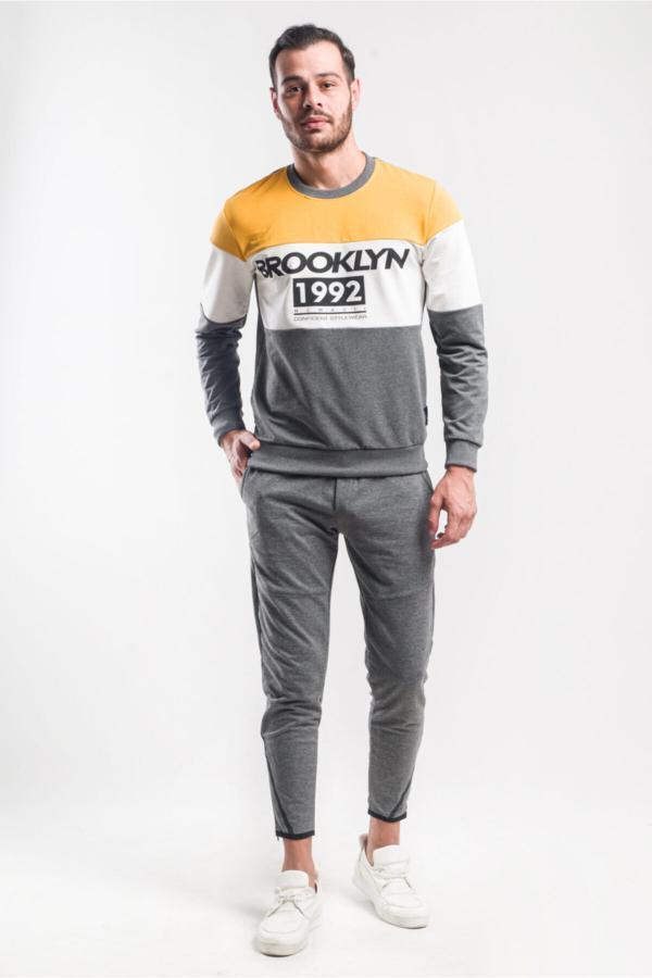 شلواراسلش پاییزی مردانه برند caddecity رنگ نقره ای کد ty54901967