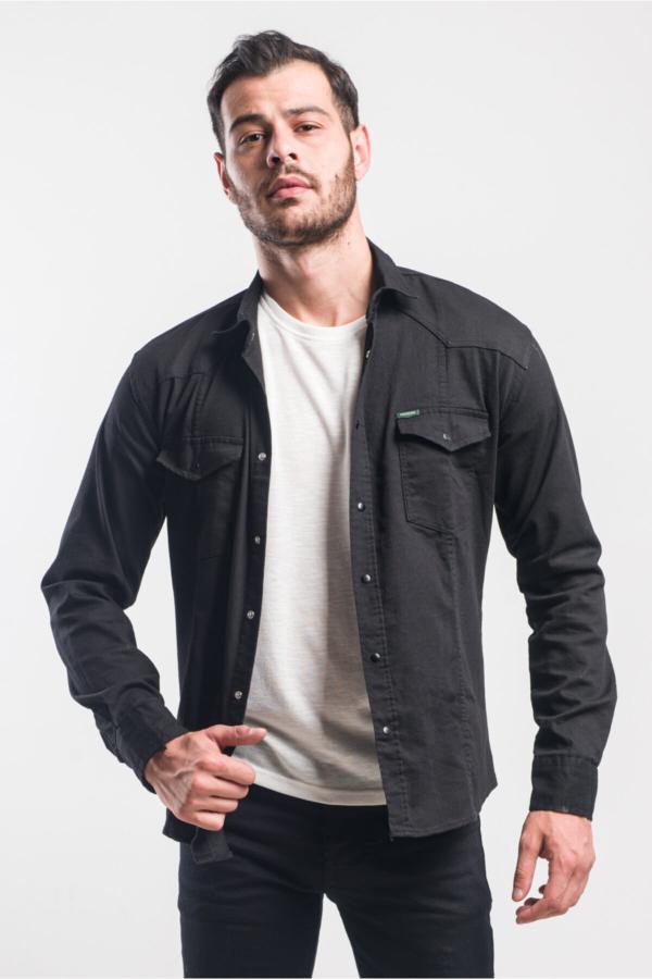 خرید ارزان پیراهن فانتزی مردانه برند caddecity رنگ مشکی کد ty54902044