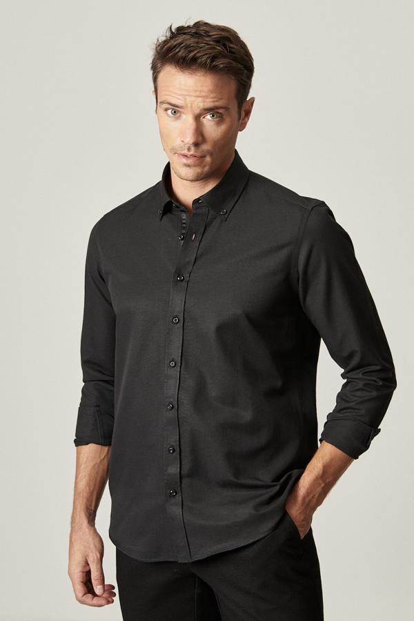 خرید مستقیم پیراهن جدید برند ALTINYILDIZ CLASSICS رنگ مشکی کد ty55304350