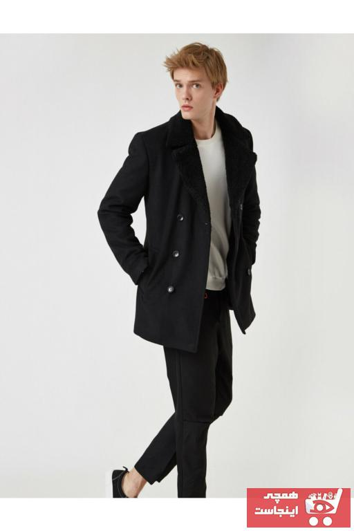 خرید انلاین پالتو مردانه خاص برند کوتون رنگ مشکی کد ty55781951