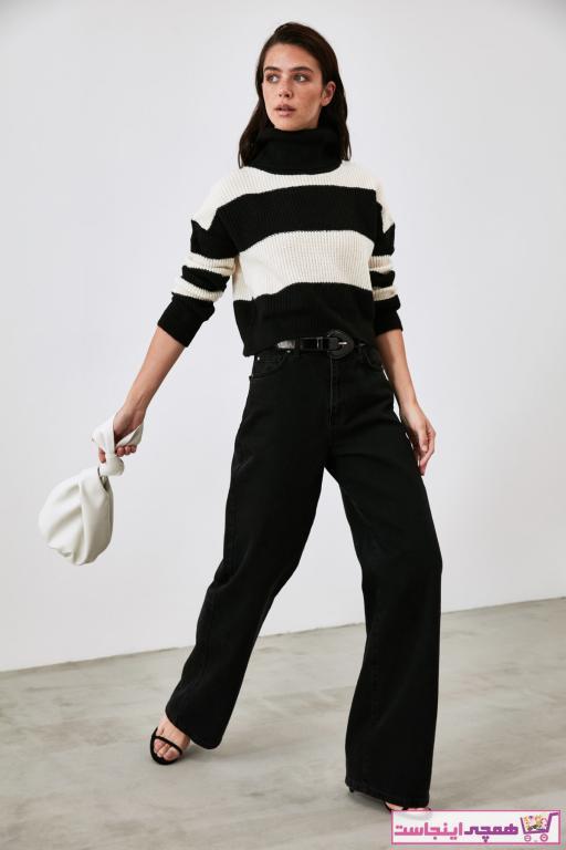 خرید مدل پلیور زنانه مارک ترندیول میلا رنگ مشکی کد ty55873993