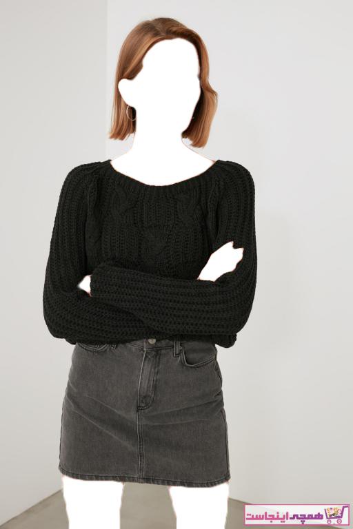 خرید پلیور 2020 زنانه مارک ترندیول میلا رنگ نقره ای کد ty55920744