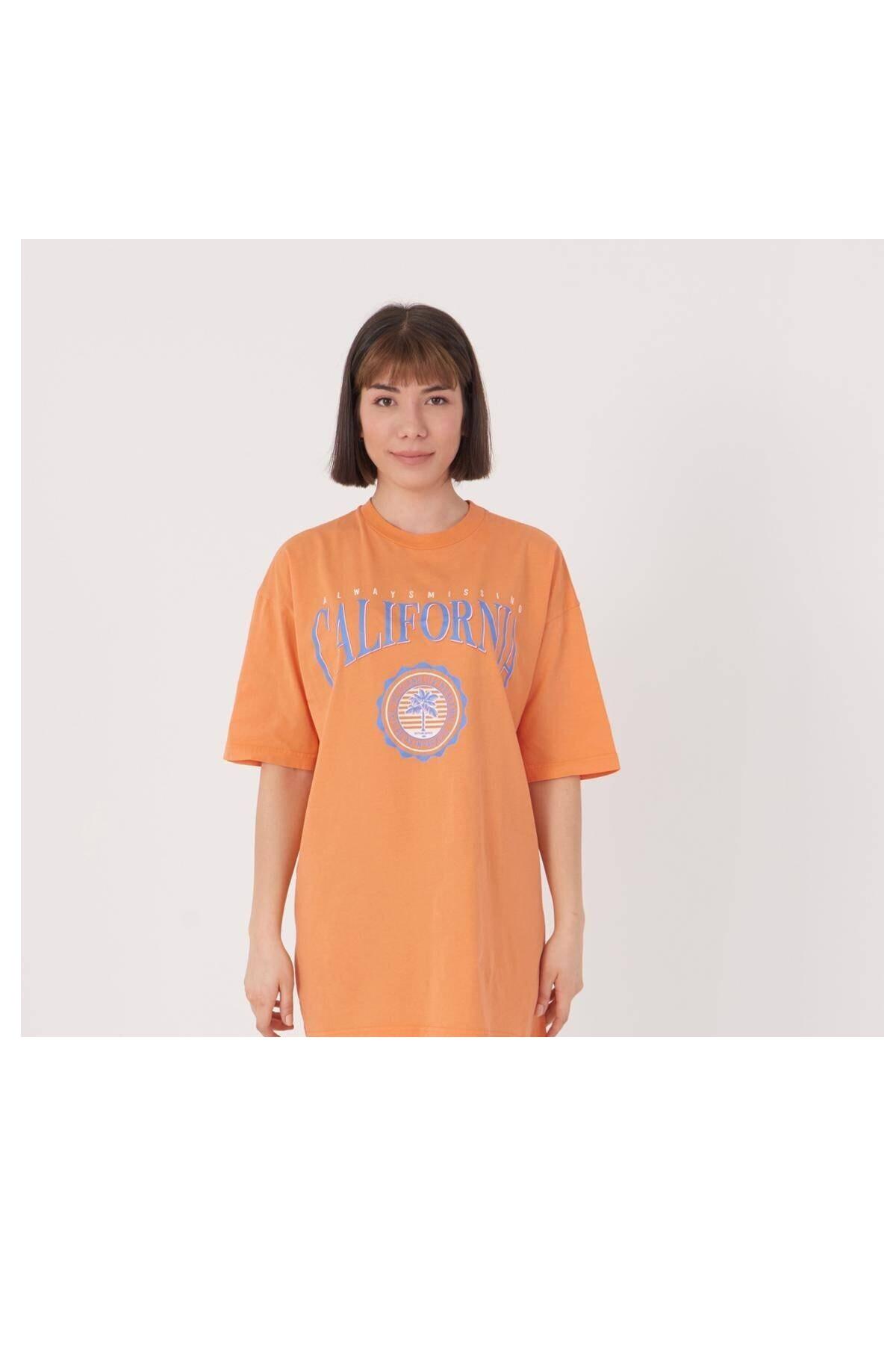قیمت تیشرت زنانه برند Addax رنگ نارنجی کد ty56810034