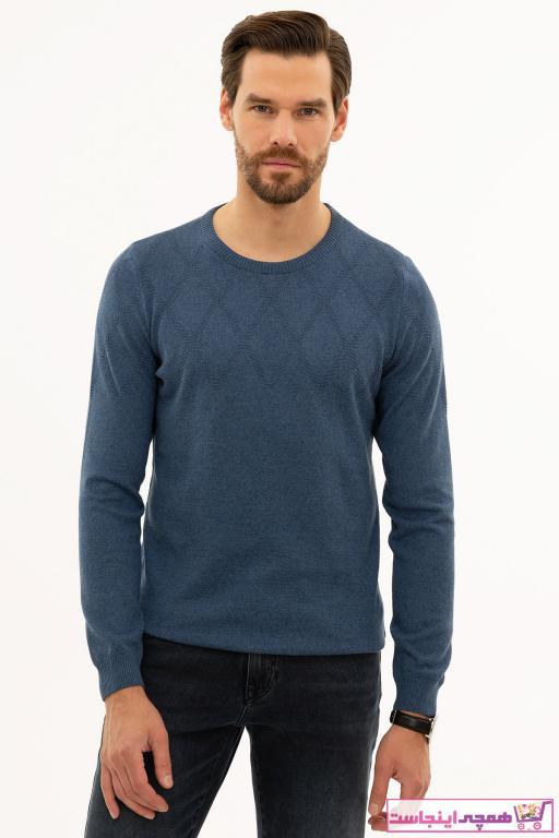 پلیور مردانه مارک دار برند پیرکاردین رنگ آبی کد ty56947633
