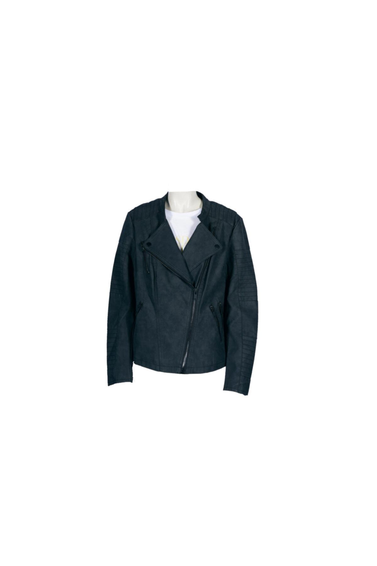 فرفروشگاه کاپشن چرم زنانه سال ۹۹ برند Only رنگ مشکی کد ty57181947