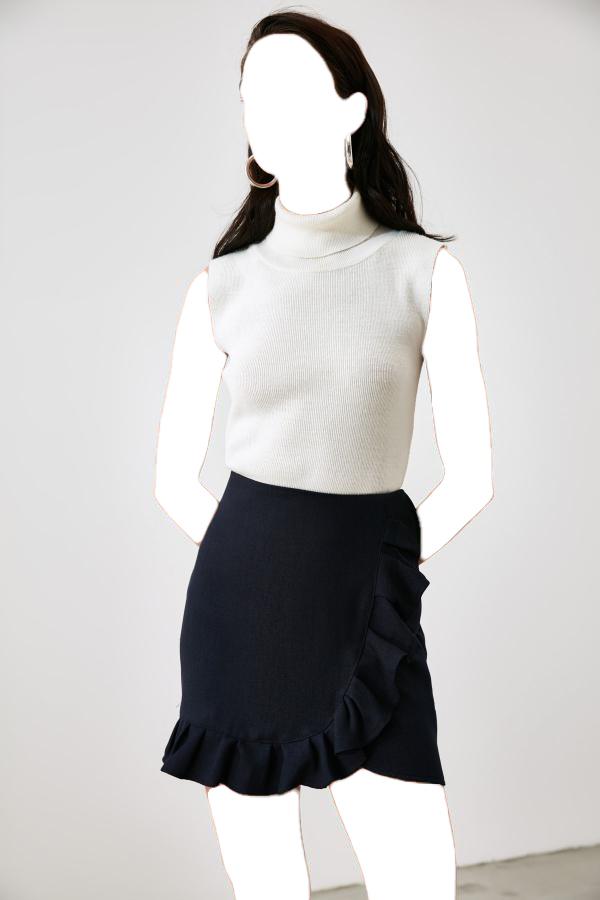 فروشگاه دامن زنانه اینترنتی مارک ترندیول میلا رنگ لاجوردی کد ty57213508