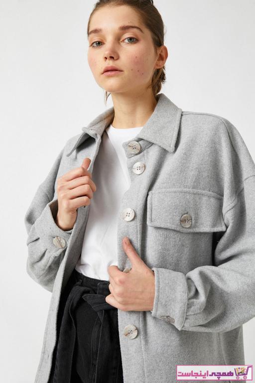 کاپشن زنانه فروشگاه اینترنتی برند کوتون رنگ نقره ای کد ty57300876