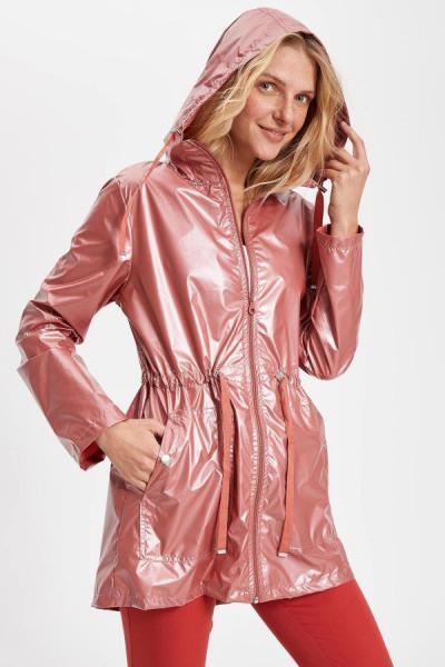 بارانی زنانه مارک دفاکتو رنگ زرشکی ty5790009