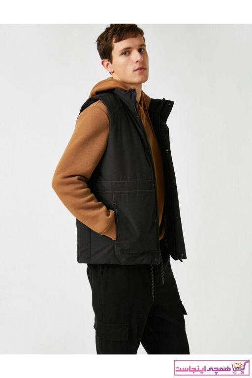 جلیقه مردانه مارک دار برند کوتون رنگ مشکی کد ty60063360