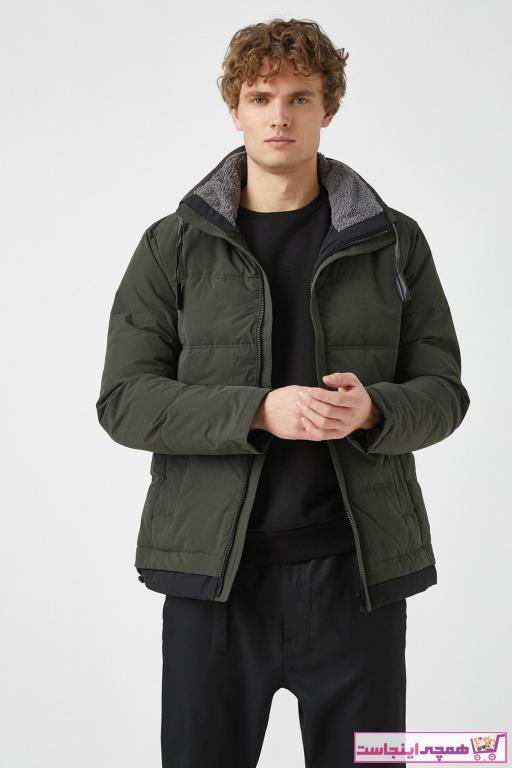سفارش ژاکت زمستانی مردانه برند کوتون رنگ خاکی کد ty61776985