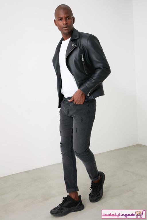 شلوار جین مردانه برند ترندیول مرد رنگ نقره ای کد ty62345626