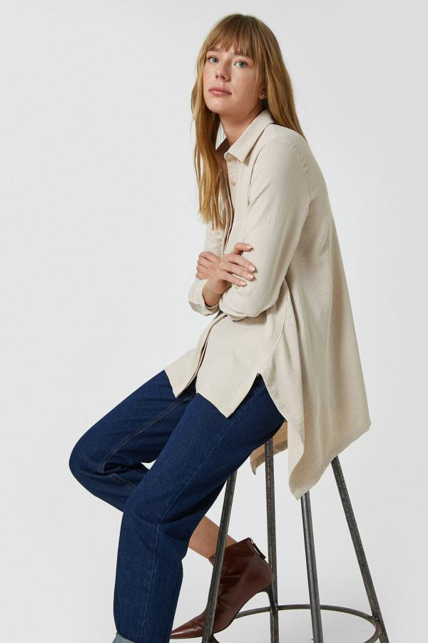 فروش تونیک زنانه حراجی برند کوتون رنگ بژ کد ty62955851