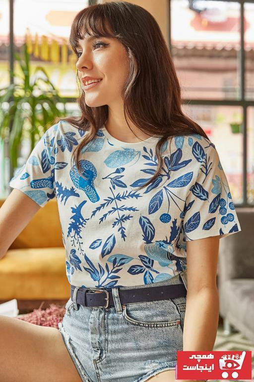 فروش تیشرت زنانه حراجی مارک Olalook رنگ بژ کد ty6426061