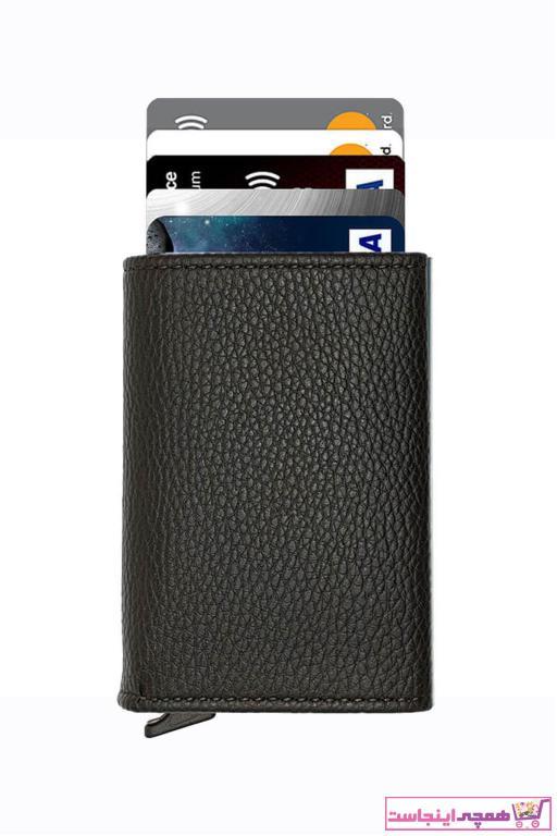 کیف کارت بانکی دخترانه ارزان قیمت برند Lederax رنگ مشکی کد ty64985182