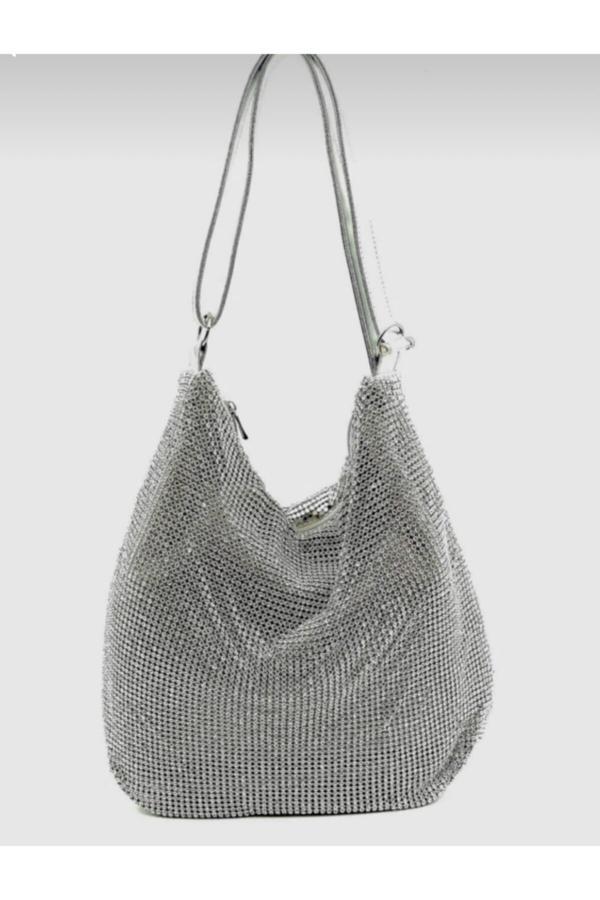 کیف مجلسی دخترانه پارچه برند DSN رنگ نقره کد ty67904395