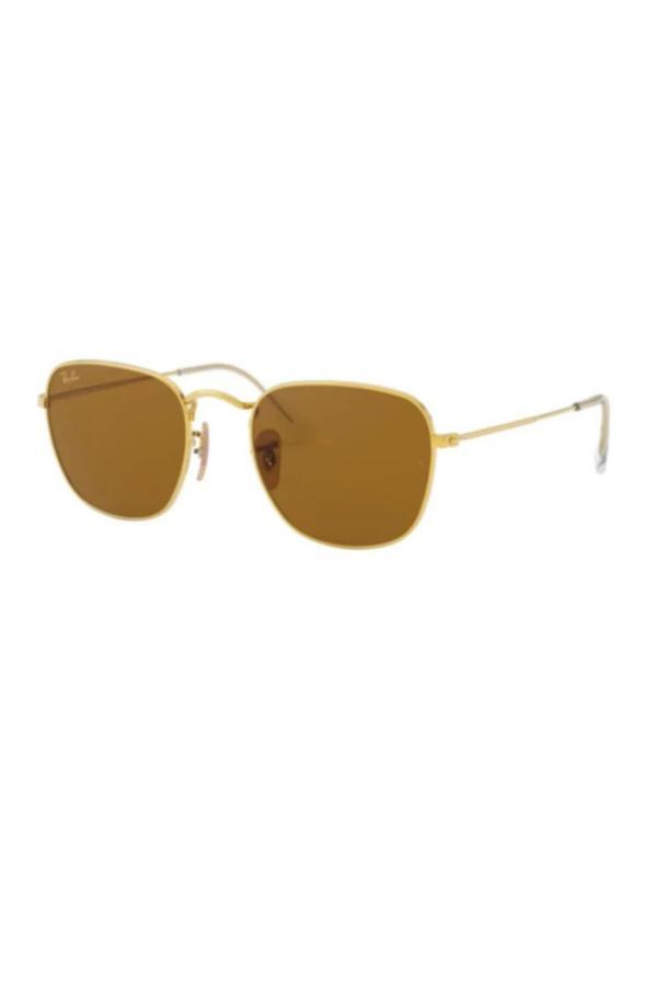 خرید مستقیم عینک آفتابی جدید برند ری بن رنگ طلایی ty68039534