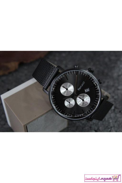 خرید انلاین ساعت زیبا مردانه برند Ferrucci رنگ مشکی کد ty68087753