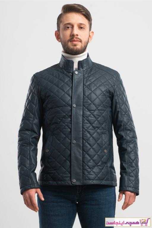 خرید انلاین ژاکت چرم مردانه ترکیه Ata Leather رنگ لاجوردی کد ty68110400