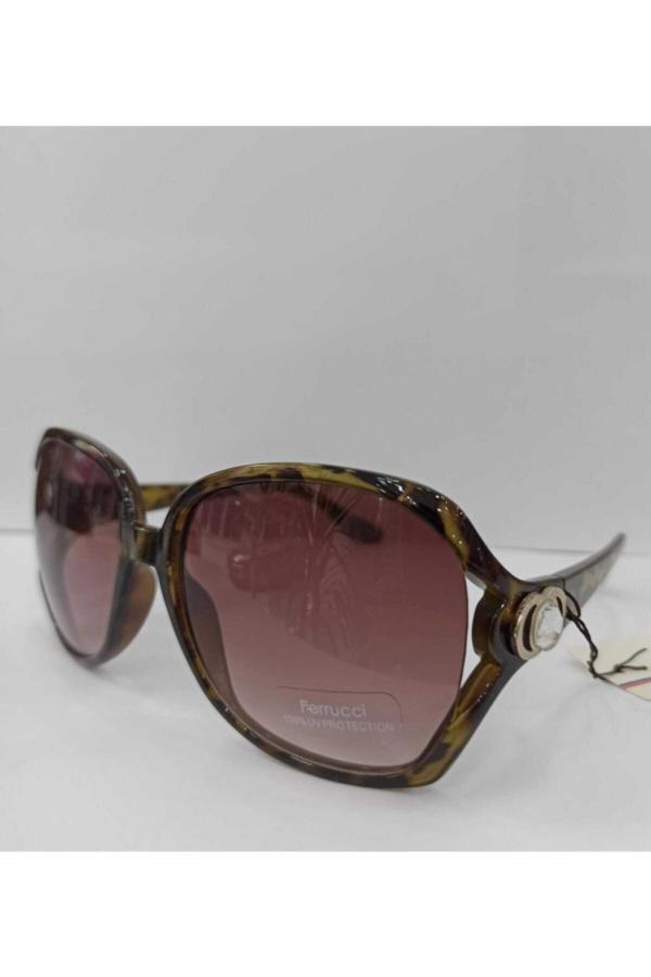 سفارش اینترنتی عینک آفتابی فانتزی برند Ferrucci رنگ قهوه ای کد ty68194246