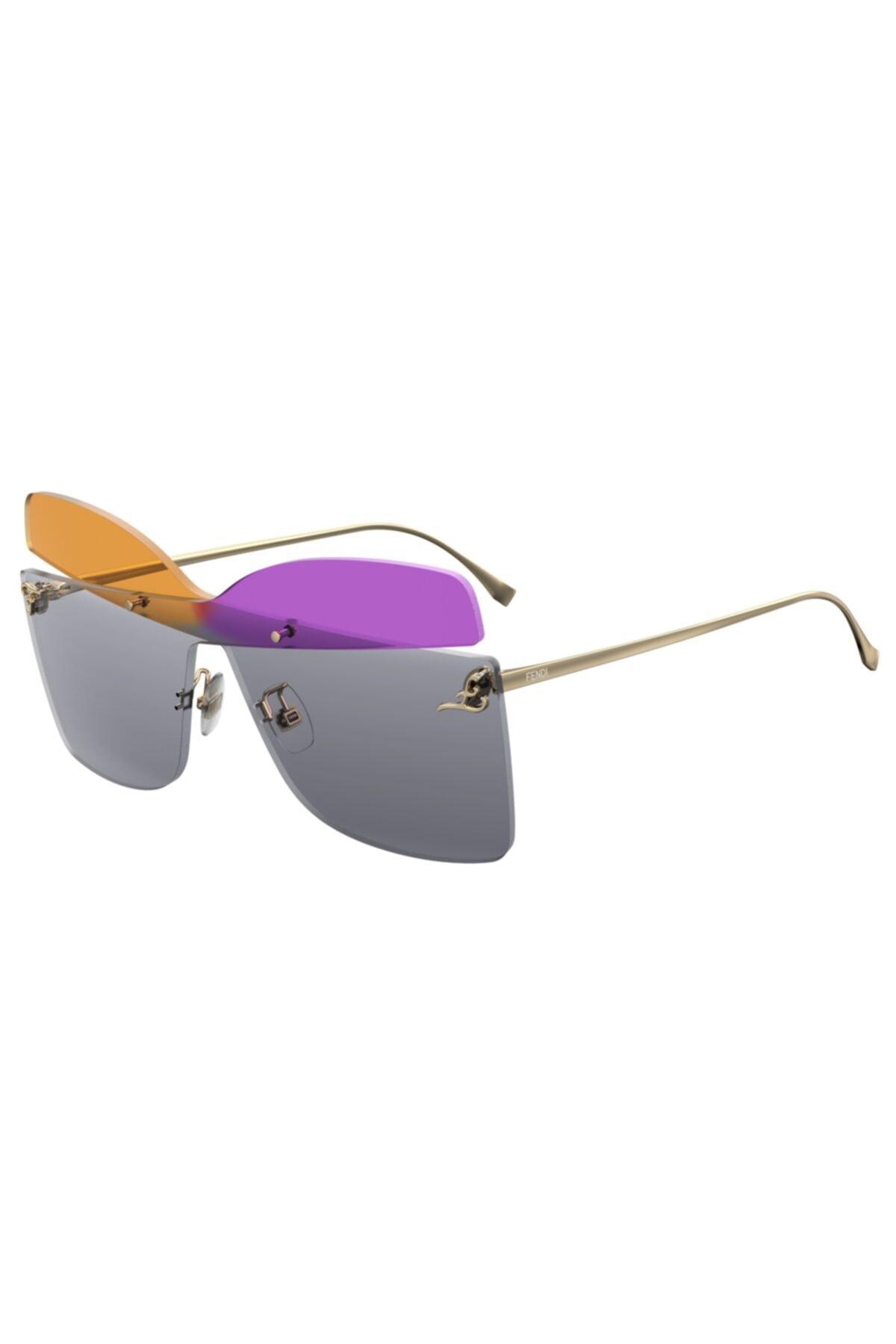 عینک آفتابی زنانه مدل دار برند Fendi رنگ نقره ای کد ty68201388