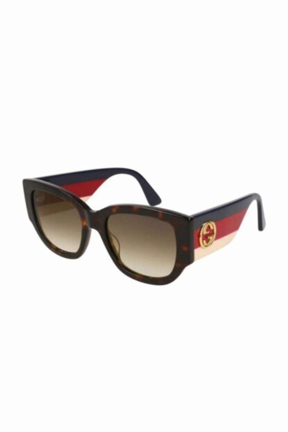 عینک آفتابی زنانه 2020 برند گوچی رنگ زرشکی ty68254975