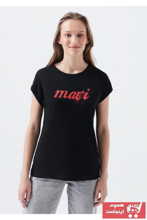 فروش پستی تیشرت زنانه شیک جدید برند ماوی رنگ مشکی کد ty6886060