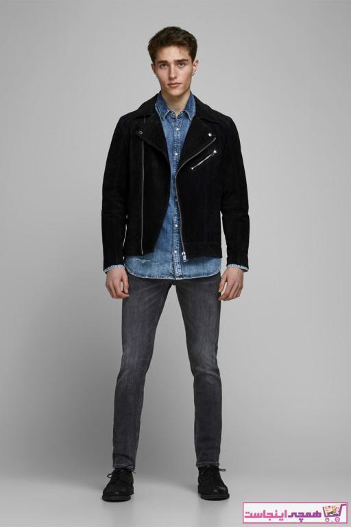 شلوار جین مردانه شیک برند Jack Jones رنگ نقره ای کد ty6928331
