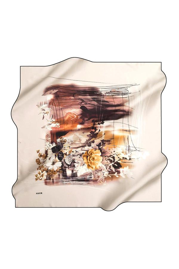 سفارش روسری زنانه ارزان برند Aker رنگ زرد ty7147373