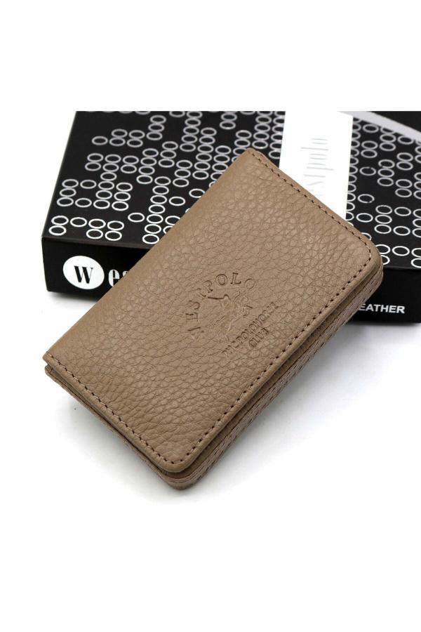 کیف کارت بانکی دخترانه حراجی برند Westpolo رنگ قهوه ای کد ty7156386