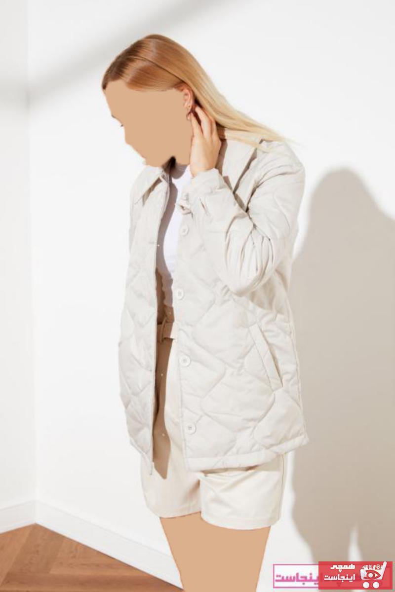 کاپشن زنانه نخی برند ترندیول میلا رنگ نقره ای کد ty71968267