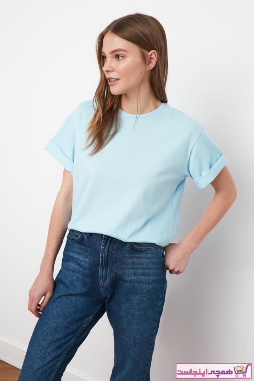 فروشگاه تیشرت زنانه برند TRENDYOLMİLLA رنگ آبی کد ty73175877