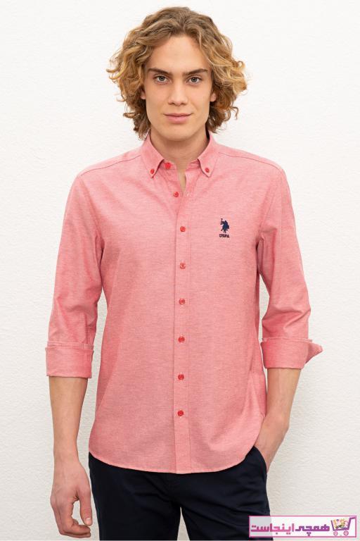 فروش انلاین پیراهن مردانه مجلسی مارک U.S. Polo Assn.برند US Polo رنگ قرمز ty73418592