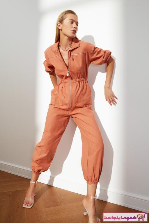 تولوم زنانه مجلسی برند ترندیول میلا ترک رنگ نارنجی کد ty73510708